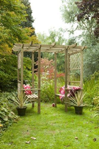 4 plazas madera jardín Arbour – Pagoda – Enrejado marco, 2 2 ...