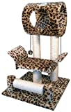 Go Pet Club Cat Tree Condo House, 18W x 17.5L x 28H Inches, Leopard