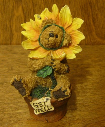 Boyds Bears Resin Posey B Goodcheer Lookin Up Get Well Bearstone Bee - Resin 4.00 IN