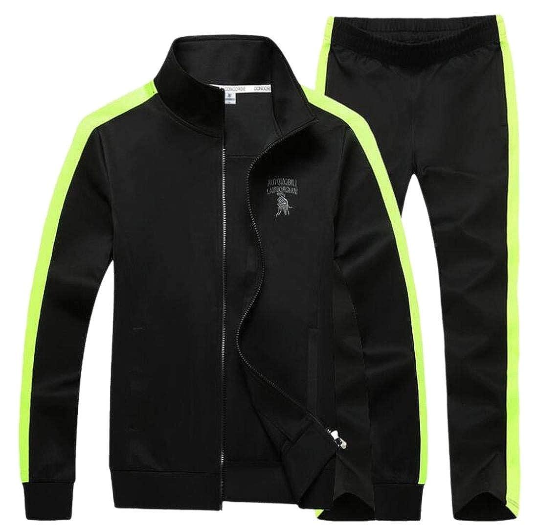 WSPLYSPJY Men Oversize Fall Spring Leisure Fashion Jogger Tracksuit Set