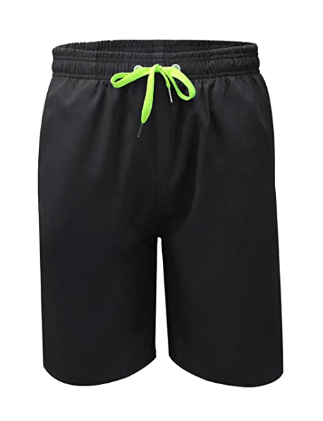 603d1a70e3d94 QRANSS Men's Quick Dry Swim Trunks Bathing Suit Beach Shorts (Black_A,  Small / 30