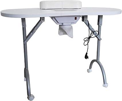 Mesa de Uñas Manicura portátil móvil Profesional Nail Art Beauty Salon Table Blanco con aspiradora y Bolsa de Transporte Negro Blanco,White: Amazon.es: Deportes y aire libre