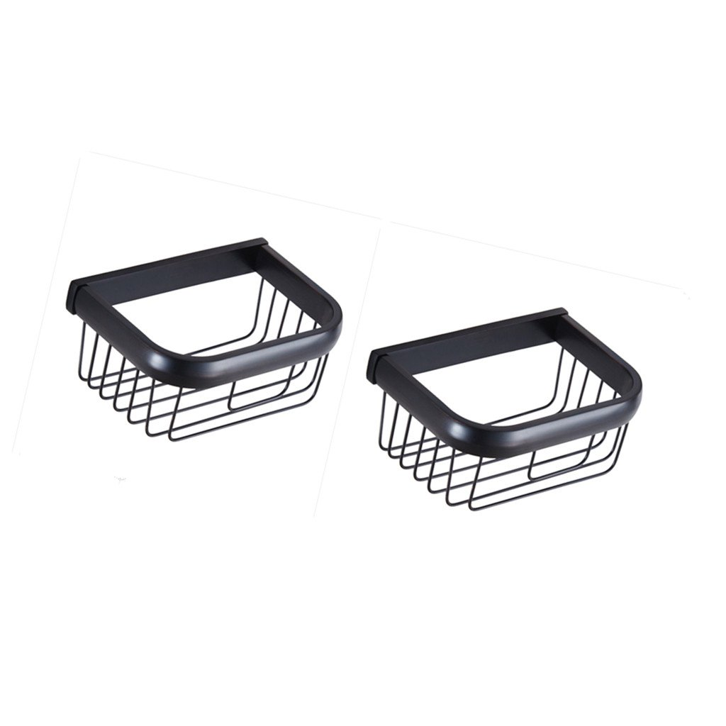 Dovewill Home Toilet Paper Holder Square Tissue Basket Oil Rubbed Bronze Pack of 2