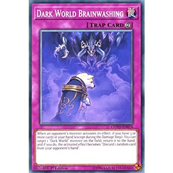 COTD-EN074 Unlimited Ed Dark World Brainwashing Common Card Code of the Duelist Yu-Gi-Oh! Single Card YuGiOh