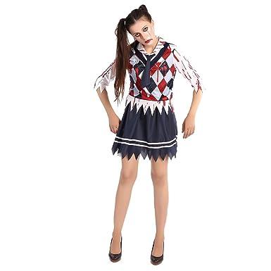 Style magnifique vente énorme date de sortie Meijunter Déguisement écolière Zombie Horreur High School ...