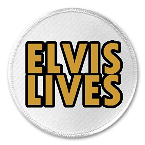Elvis Lives - Circle Sew / Iron On Patch - Presley Rock n Roll King ()