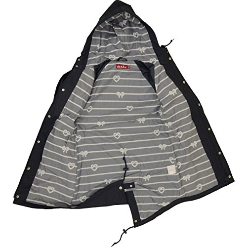 derbe - Abrigo impermeable - para mujer Navy Grey
