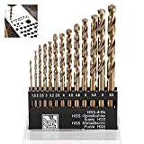 Wrightus Metric M35 Cobalt Steel Twist Drill Bit Set Extremely Heat Resistant with Straight HSS Shank to Cut Through Hard Metals Like A Hot Knife Through Butter,Such as Stainless Steel,Titanium Alloy