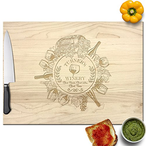 Personalized Winery - Froolu Wine Lovers best custom cutting board for Winery Owner Housewarming Gifts
