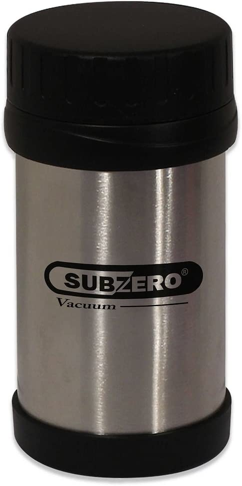 Crafted of Double-Walled Stainless Steel and Strong Plastic, 12 oz. Food Jar with Screw Top, that Keeps Food or Drinks hot and Cold for a Long Period of Time by Subzero