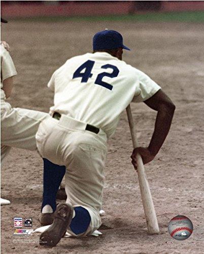 Jackie Robinson Brooklyn Dodgers MLB Action Photo 12.5 x 15.5 Framed
