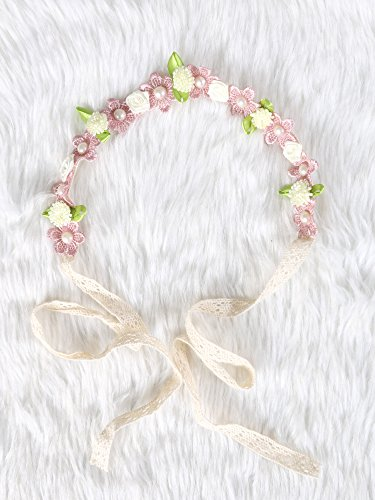 Festival Boho Hippy Hair Head Band/ Rose Crown/Bohemian style (Spring time) (Dia Del Los Muertos Costume)