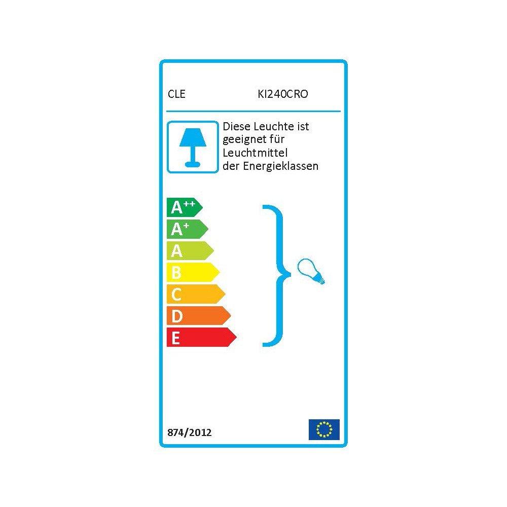 ALUTEC Spiegelleuchte Linestra Linienlampe 1x 35/60W chrom [Energieklasse G] CARDANLIGHT EUROPE