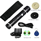 Security Tour Guard Patrol Wand with built-in LED floodlight+30 PCs Check Points Full RFID Patrol System Kits