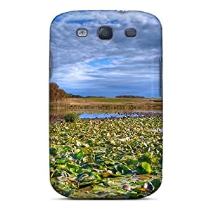 Unique Design Galaxy S3 Durable Tpu Case Cover Lily Pads In A Marsh