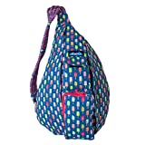 KAVU Rope Bag Shoulder Sling Cotton Crossbody Backpack - Popsicle Party
