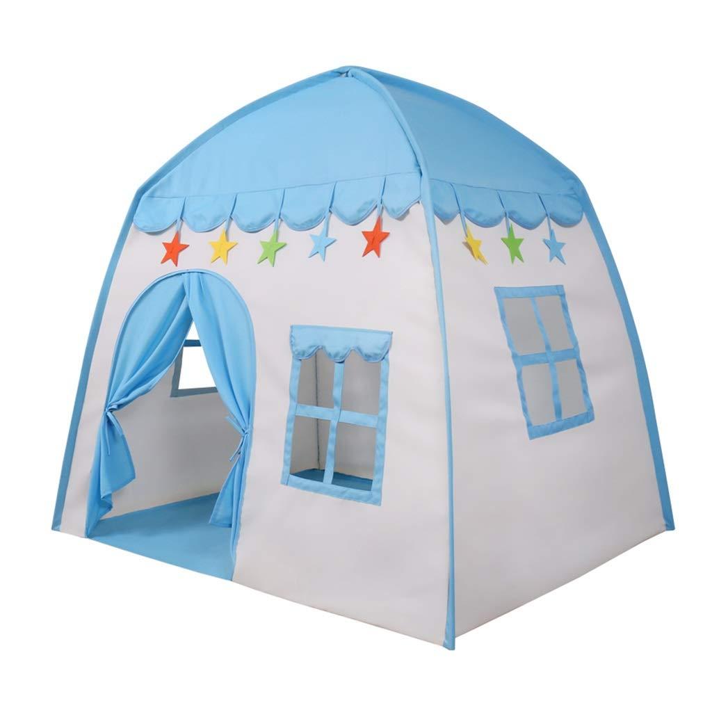 子供用プレイテントブループレイハウス子供のためのテントをプレイしますボイル城屋内遊び場子供のための誕生日プレゼント キッズテント (Color : Blue, Size : 130x100x130cm) B07P6FNX2X Blue 130x100x130cm