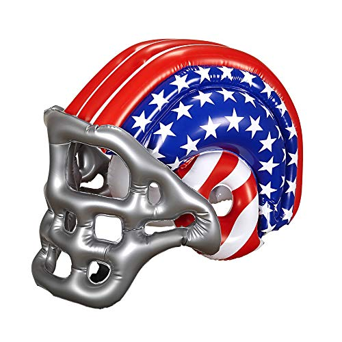 widmann 04867 - Inflatable Football Helmet with American Stars and Stripes, One Size ()