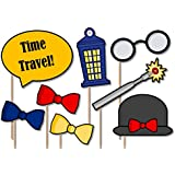 Time Traveler Photo Booth Props Kit - 20 Pack Party Camera Props