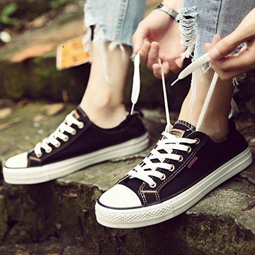Estilo Lona Tendencia Harajuku 39 Tabla Black alpargatas Green Coreano Yananhome Para Zapatos Estudiantes De Size color Verano Salvajes Hombre qTX8Oz