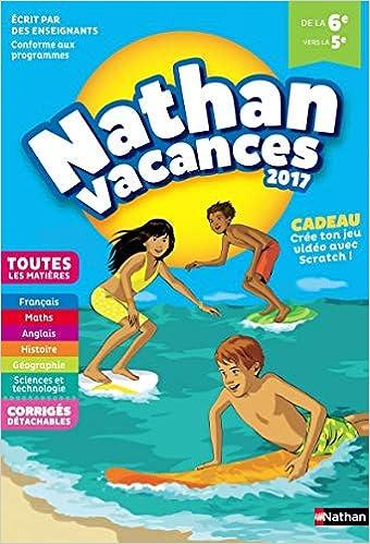 nathan vacances de la 6e vers la 5e