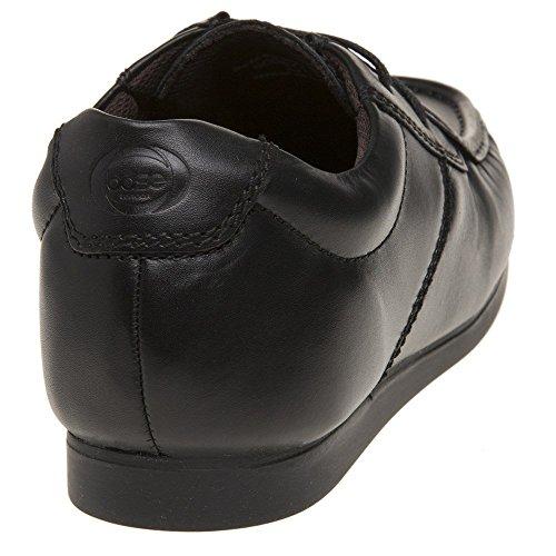 Base London - Zapatos de cordones de cuero para hombre negro negro