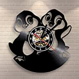 Jedfild The lovely art wall clock cartoon 3d penguin