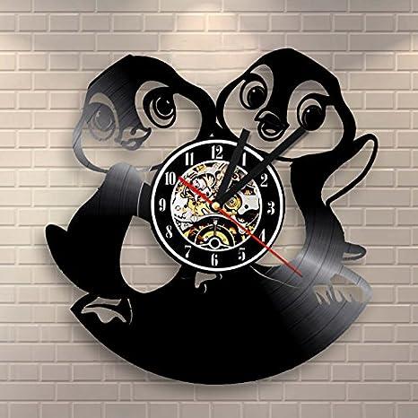 Türign® Relojes de Pared Reloj De Cuarzo dibujos animados 3d Pingüino mesa Relojes, Reloj, Reloj de pared: Amazon.es: Hogar
