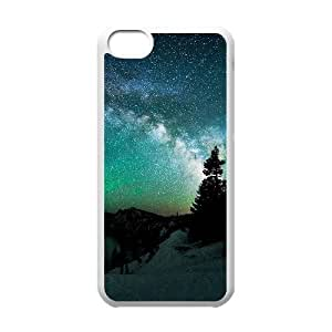 [Stars & Space Series] IPhone 5C Cases Stars in Alaska, Phone Case for Iphone 5c for Girls Kweet - White
