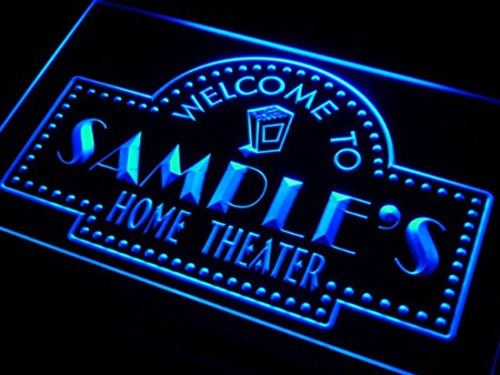 Name Personalized Custom Home Theater Bar Neon Sign - Blue Colour