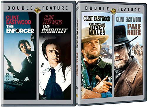 Pale Rider + The Outlaw Josey Wales & The Enforcer + The Gauntlet DVD Western Action Pack 4 Movie Set Clint Eastwood