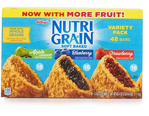 Fruit Whole Grains - Nutri-Grain Cereal Bar Variety Pack - 1.3 oz. bar, 48 per case