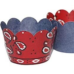 Bandana Cupcake Wrappers, 36, Farm Animal Party Supplies, Western Cowboy Birthday Decorations, Wild West Denim Cup Cake Liners, Rodeo Theme Favor Bag Holder, Train Themed Baby Shower, Barn Wedding