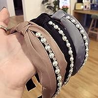 Homeofying - Diadema de pelo de perlas sintéticas coloridas para ...