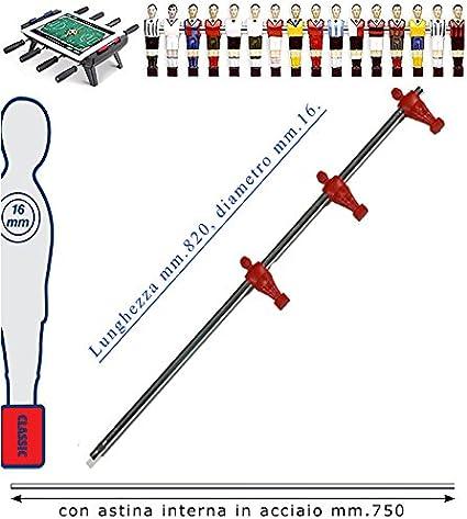 Fútbol Futbolín Barra telescópica (retráctil) universal, o mm.16 ...