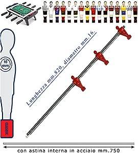Fútbol Futbolín Barra telescópica (retráctil) universal, o mm.16, completa dartshop de interior de acero. Barra attaccanti con ometti, pressofusi de polipropileno rojos.: Amazon.es: Deportes y aire libre