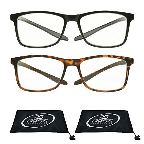 Multifocal Progressive 3 Magnifications in 1 Lens No Line Computer Gaming Reading Glasses for Men & Women