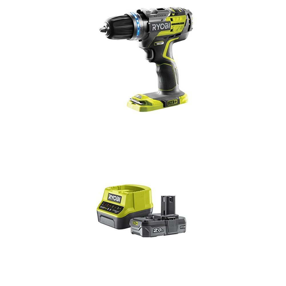 Ryobi R18PDBL-0 ONE+ Cordless Brushless Percussion Drill (Body Only), 18 V TTI
