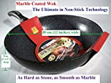 Ceramic Marble Coated Cast Aluminium Non Stick Wok 30 cm (12 inches) For Sale