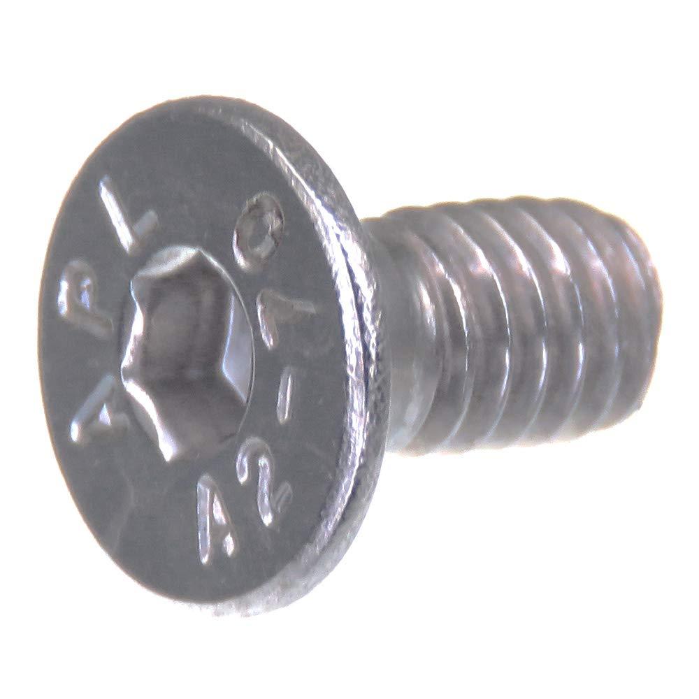 20 piezas acero inoxidable V2A VA A2 DIN 7991 // ISO 10642 Tornillo avellanado SECCARO M4 x 30 mm hex/ágono interior
