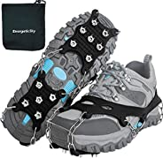 EnergeticSky Ice Cleats Spikes Crampons and Tread for Snow & Ice,The Only Innovative Design on Amazon,Atta