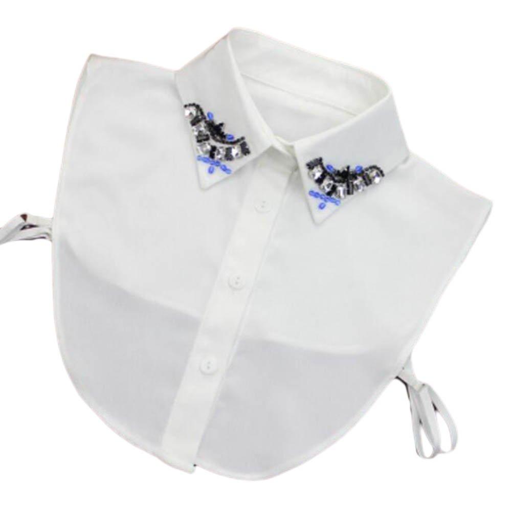 George Jimmy Elegant Womens Fake Half Shirt Blouse Collar