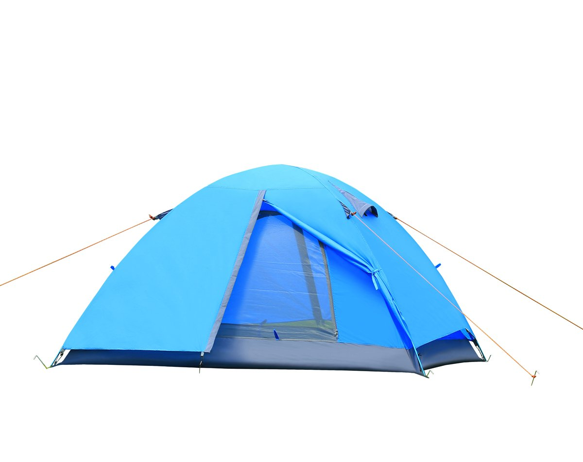 Amazon.com  Lelly Q 2 Person C&ing Tent Double Layer Windproof Waterproof 3 Season Backpacking Tents for Hiking Travel Outdoor Beach (Blue)  Sports u0026 ...  sc 1 st  Amazon.com & Amazon.com : Lelly Q 2 Person Camping Tent Double Layer Windproof ...