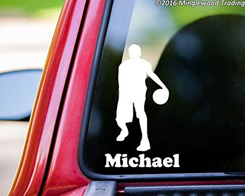 - Minglewood Trading Boy Basketball Player vinyl decal sticker with Personalized Name 6