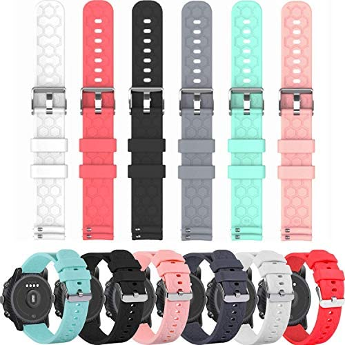 FitTurn Compatible with Michael Kors Access Bradshaw Smart Watch Replacement 22mm Silicone Quick Release Watch Band Strap for MKT5001/5004/5013 – Smart Watch Accessories (SixColors)