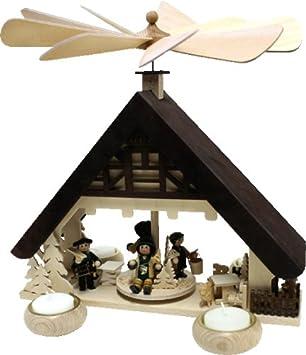 Holz Bastelset 3 D Pyramide Haus Mit Teelicht Komplett Ausgesagt