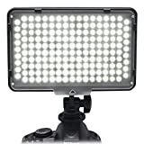 Alliebe 168 LED Studio Video Light Lamp for Canon 5D 5DII 5DIII 5DIV 6D 7D 70D 550D 600D Nikon D7100 D7000 D850 D750 D5100 D3100 Sony Panasonic Olympus Pentax Samsung DV Camera Camcorder