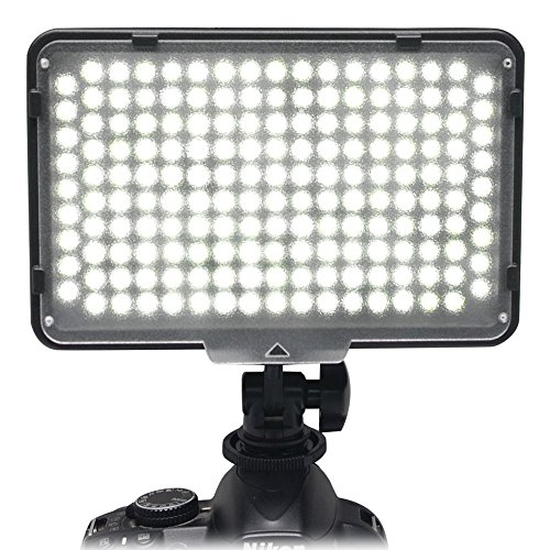 Alliebe 168 LED Studio Video Light Lamp for Canon 5D 5DII 5DIII 5DIV 6D 7D 70D 550D 600D Nikon D7100 D7000 D850 D750 D5100 D3100 Sony Panasonic Olympus Pentax Samsung DV Camera Camcorder by Alliebe