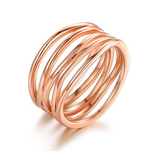 Barzel Rose Gold Plated Statement Ring - Size 8