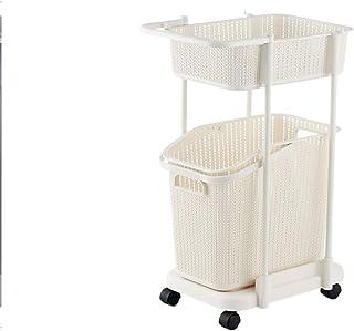 PLL Cesta di immagazzinaggio dell'Abbigliamento del canestro di Lavanderia del Cestino della Lavanderia del Cesto di plastica Bianco del Cestino